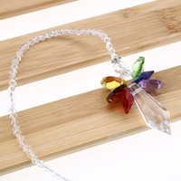 Anauto Crystal Hanging Pendant,Hanging Pendant,Handmade Hanging Pendant Rainbow Crystal Prisms Ball Chandelier Lamp Xmas Window Decor