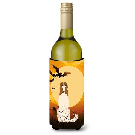 Halloween Borzoi Wine Bottle Beverge Insulator Hugger BB4289LITERK (Wine Bottle Halloween Crafts)