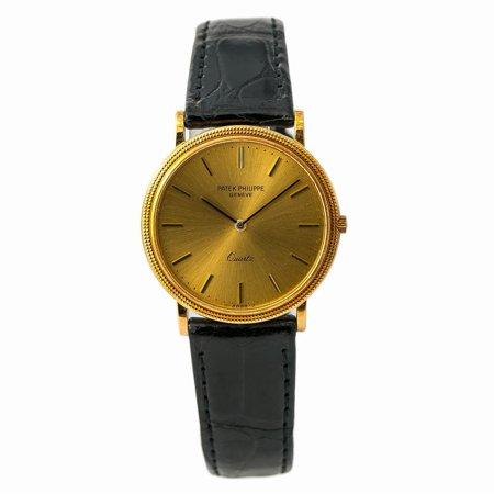 Pre-Owned Patek Philippe Calatrava 3744J Gold Watch (Certified Authentic & Warranty)