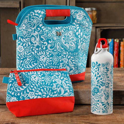 The Pioneer Woman Lunch Tote with Mini Bag and Water Bottle, Multiple Colors