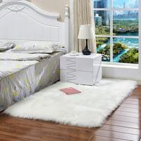Faux Fur Fluffy Wool Sheepskin Rug Mat Hairy Rectangle Carpet Shaggy Area Rug Bedroom Living Dining Room Carpet Warm Mat Sofas Chair Floor Cushions