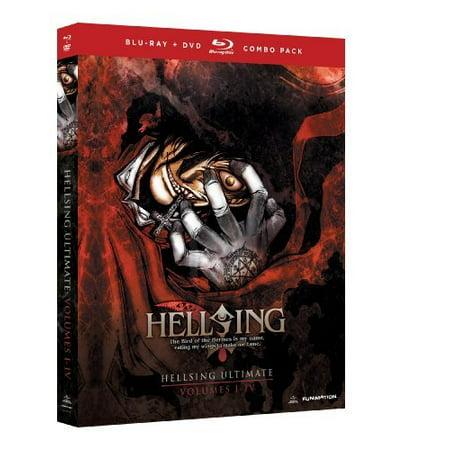 HELLSING ULTIMATE-VO1-4 BOX SET (BLU-RAY/DVD COMBO/5 DISC SET) (Blu-ray) (Inuyasha Box Set Blu Ray)