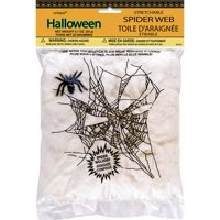 Stretchable Spider Web and Spider Halloween Decoration