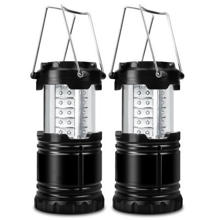 2pcs Super Bright 30 LED Outdoor Camping Lantern Portable Lightweight Waterproof Hiking Fishing Light (Outdoor Waterproof Lantern)