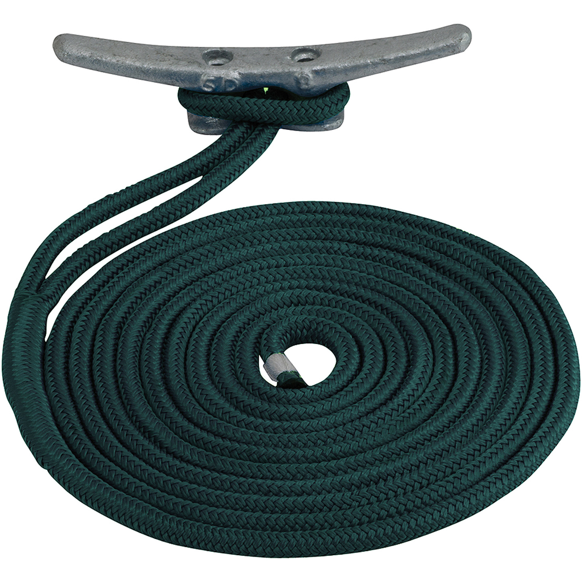 "Sea Dog Dock Line, Double Braided Nylon, 1 2"" x 15', Teal by Sea-Dog Line"