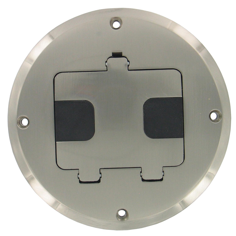 Hubbell Raco 6239NI Nickel Plated Concealed Receptacle Floor Box Kit