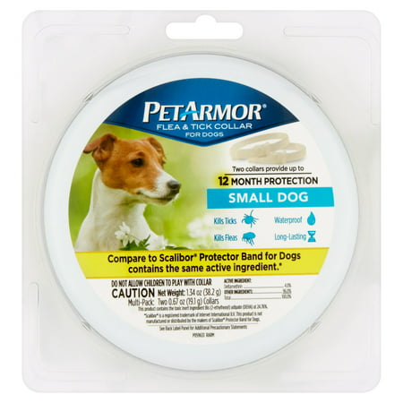 PetArmor Flea and Tick Collars for Small Dogs, 12 Months -