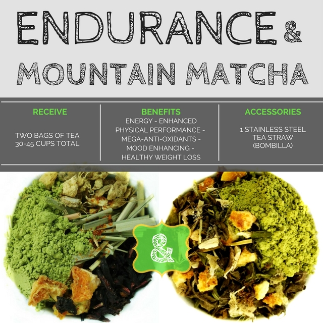 "BlendBee ""Matcha Madness Tea"" Combo, Matcha & Yerba Mate, 3 oz. Loose-leaf Tea"