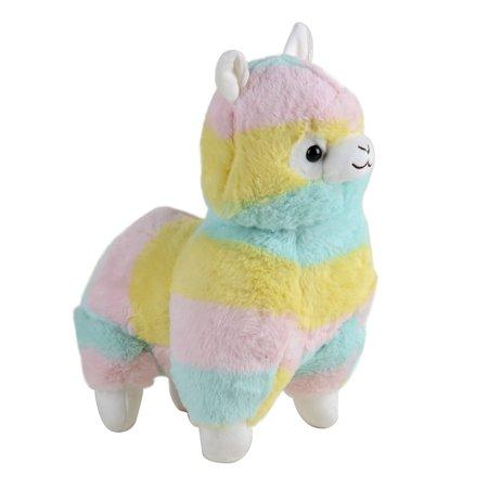 Cuddly Llama Rainbow Alpaca Plush 14