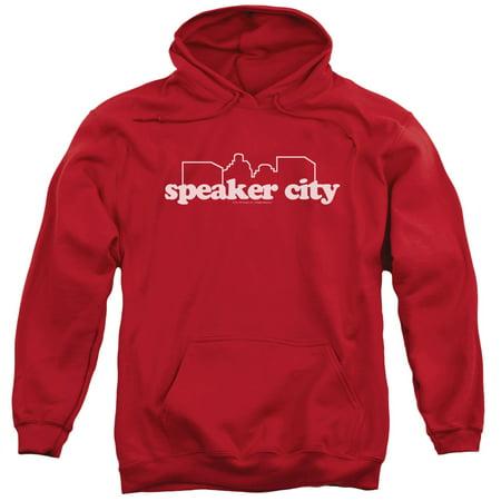 Old School Speaker City Logo Mens Pullover Hoodie