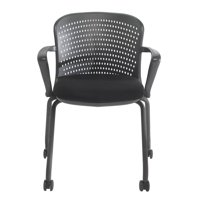 NXO Nesting Chair with Casters in Black (Red)
