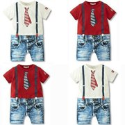 Baby Boys Kids Newborn Infant Overalls Romper Shorts Bodysuit Outfit Clothing
