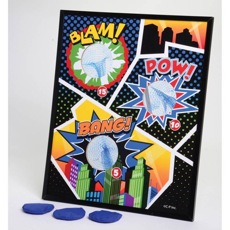 Superhero Bean Bag Toss Game - Superhero Decoration Ideas