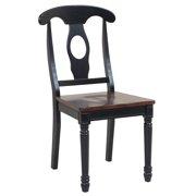 Sturdy Dining Chairs-Finish:Distressed Light Cherry/Black,Quantity:2 Piece
