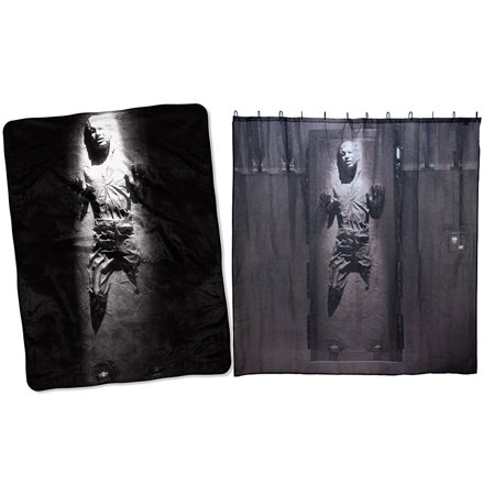 Star Wars Han Solo In Carbonite Fleece Throw Blanket 46 X 60 Shower