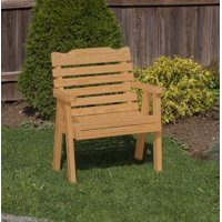 Outdoor Patio Garden Lawn Exterior 2 Ft Brown Finish Amish Heavy Duty 800 Lb Classic Park Style Kiln-Dried Pine Chair