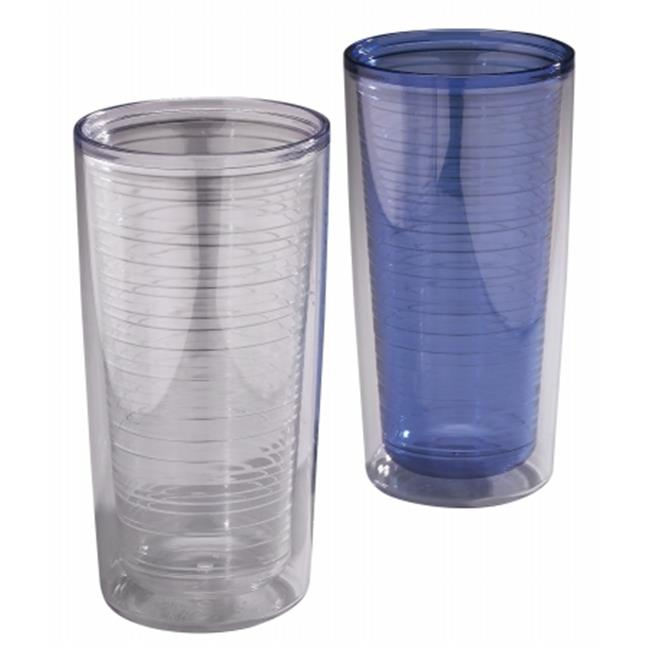 Arrow Plastic 00216 18 oz Double Wall Tumbler , Pack of 8
