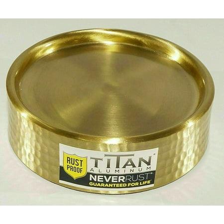 New Titan Uli Aluminum Never Rust Soap Dish in Gold Never Rust Aluminum Wire