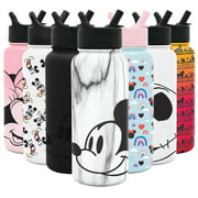 Simple Modern Disney 32oz Summit Water Bottles with Straw Lid - Vacuum Insulated Tumbler Double Wall Travel Mug 18/8 Stainless Steel Flask - Disney: Mickey on Marble