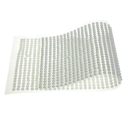 Wedding Self Adhesive Pearls - Plastic Pearls Flat Bead Self Adhesive Stickers, 4mm, 46-Strips, White