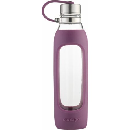 Radiant Silicone (Contigo Purity Glass Water Bottle, 20 oz., Radiant Orchid with Silicone)