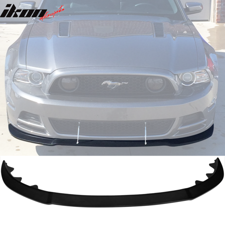2013 Mustang Front Bumper >> Fits 13 14 Ford Mustang Gt Style Front Bumper Lip Unpainted Black Poly Urethane