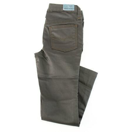 Ralph Lauren Girl's Brown Cotton Slim Fit Jeans Size 5 US