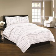 Printed Flannel 3 Piece Dot Duvet Cover Set by Tribeca Living