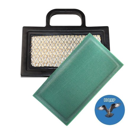 Image of HQRP Air Filter Cartridge w/ Pre-cleaner for Briggs & Stratton 401500, 401577, 404500, 405500, 405577, 405700, 405777, 406500, 406577 Series Intek V-Twin Engines + HQRP Coaster