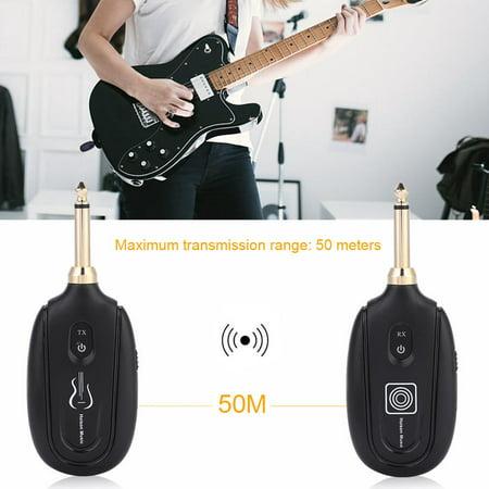 Ejoyous M7 Guitar Wireless Transmitter & Receiver System Audio Transmission Set, Wireless Guitar System - image 7 de 12