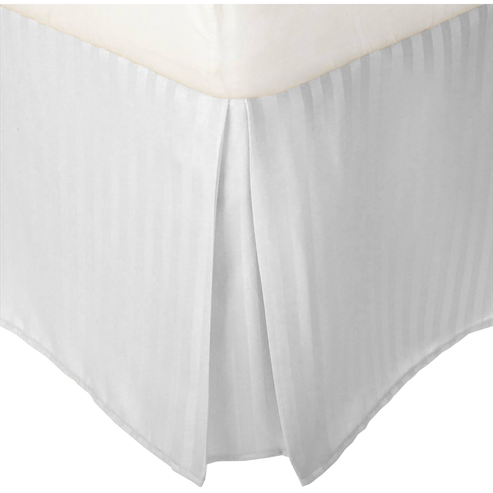 Superior 1500 Series Microfiber Wrinkle Resistant Pleated Stripe Bedskirt with 15-Inch... by Home City Inc