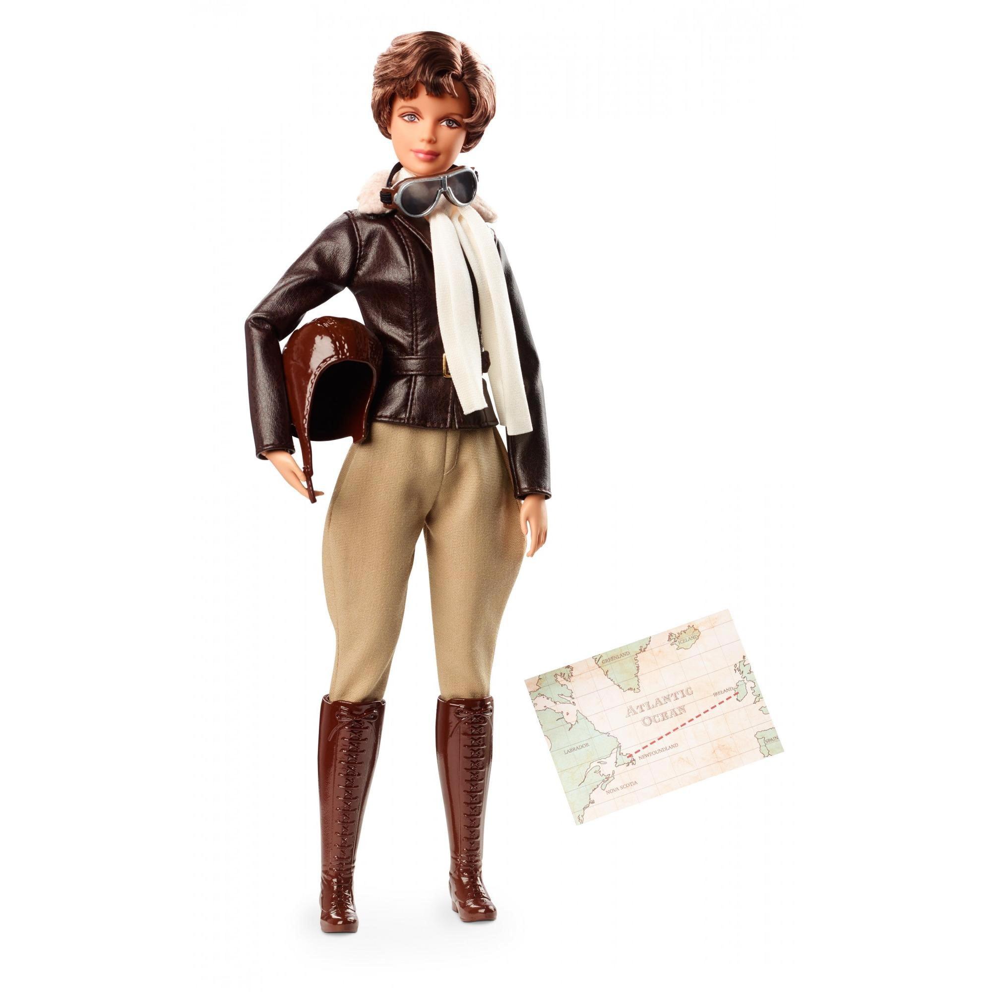 Barbie Inspiring Women Series Amelia Earhart Doll, Iconic Pilot's Look by Barbie