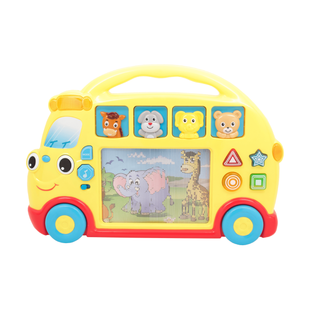 Techege Kids Rolling And Learning Yellow Safari Bus Toy For Toddlers Boys Or Girls With Sounds Musics Walmart Com Walmart Com