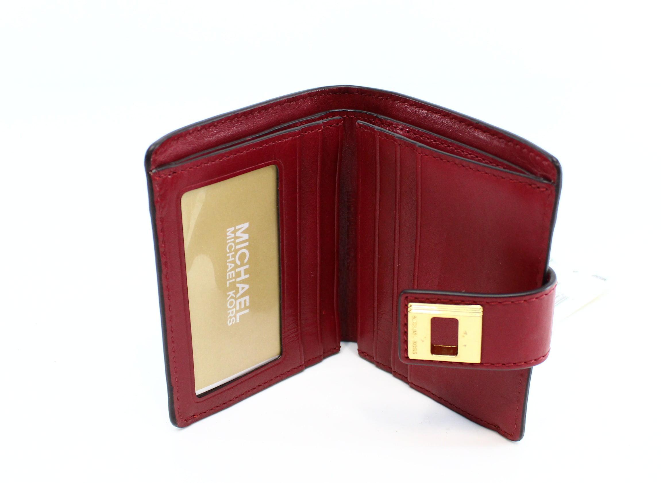 3a526869ca984b Michael Kors - Michael Kors NEW Natural Cherry Natalie Bifold Wallet Coated  Canvas - Walmart.com