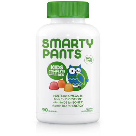 - SmartyPants Kids Complete and Fiber Multivitamin Gummies, 90 Ct