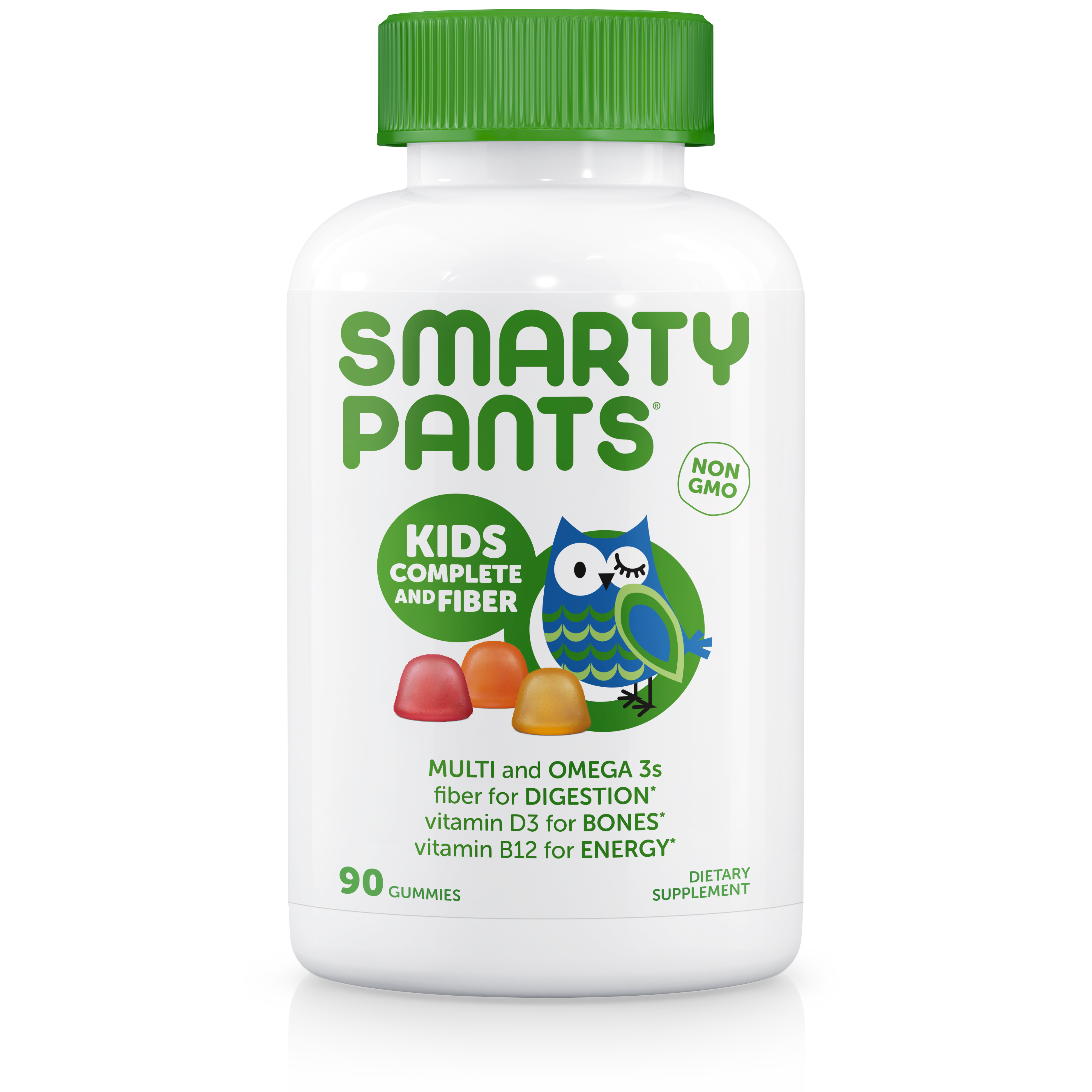 SmartyPants Kids Complete and Fiber Daily Gummy Vitamins, 90 Ct