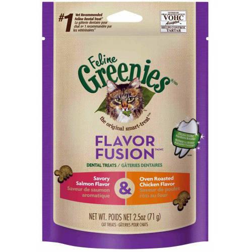 Greenies Feline Dental Treat, Chicken and Salmon Flavor, 2.5 oz