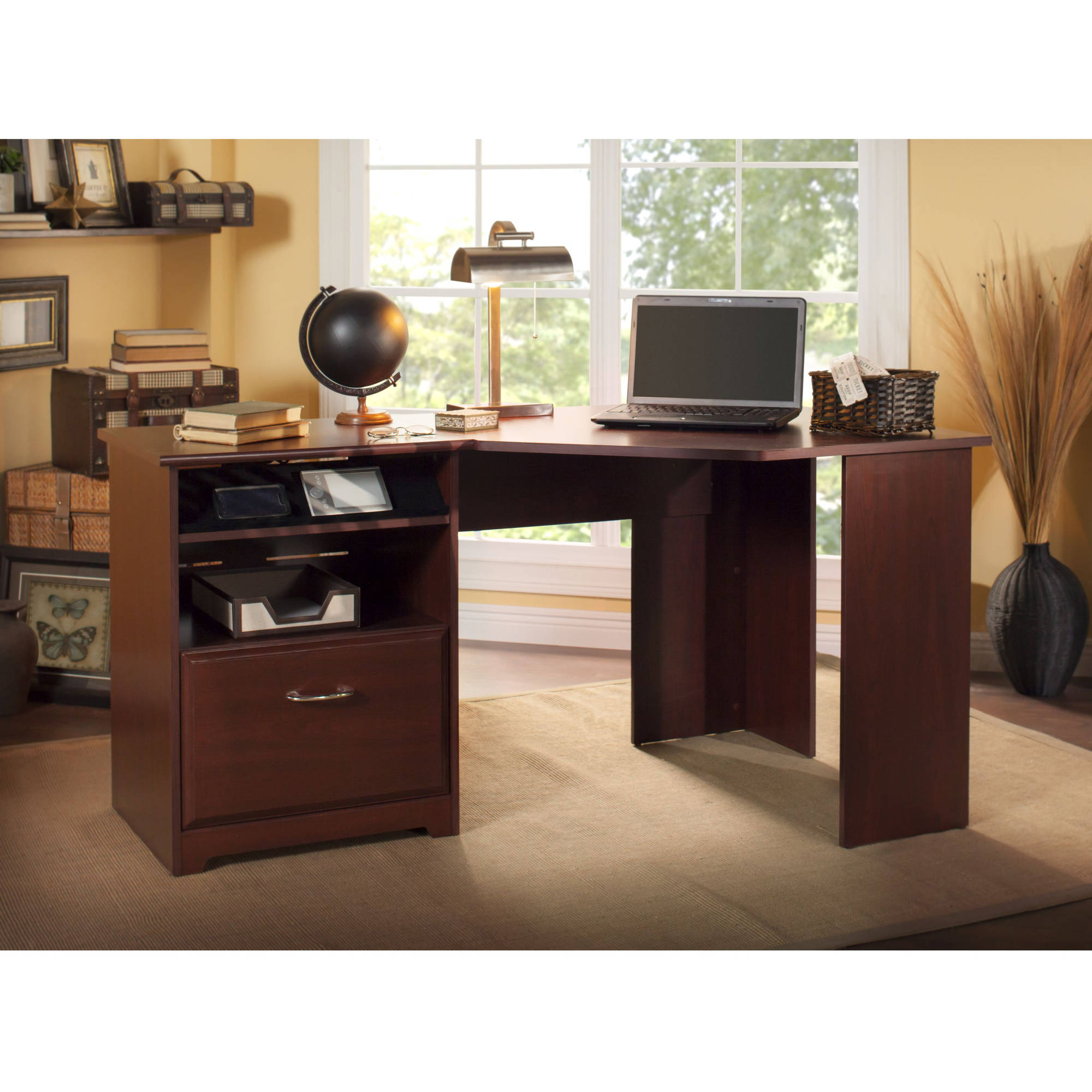 . Bush Furniture Cabot Corner Desk   Walmart com