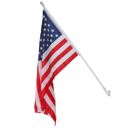 Zeny 3'x5' Silver Aluminum Flag pole Spinning & Tangle Free Wind Resistant 6Ft US Flag