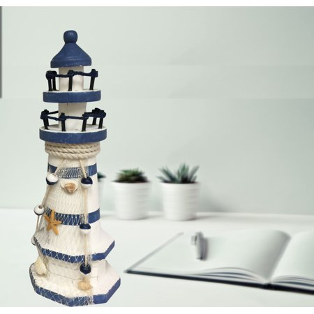 Nautical Design Lighthouse Polyresin Design;Product Size: 3.5x3.5x9.5. Accent any room, decor any shop with seaside coastal theme - Nautical Decor Cheap