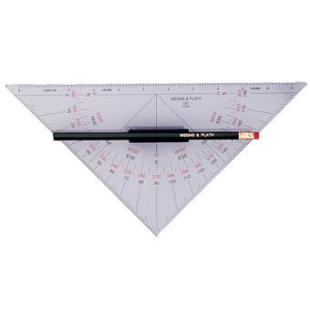 Weems & Plath Marine Navigation Protractor Triangle with Handle - Weems Protractor