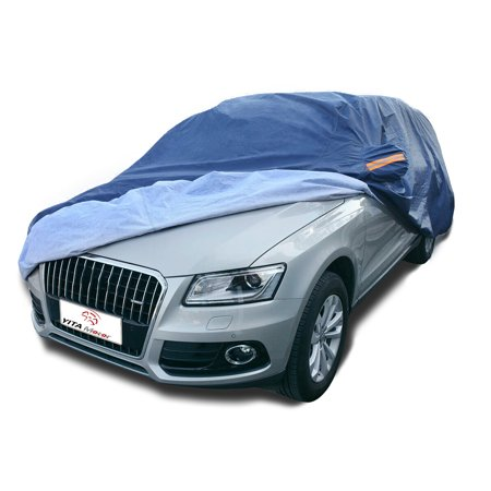 Universal Fit Full Car Cover Waterproof Snow Ice Rain Sun UV Resistant(Fits up to 177 Inches,PEVA ,Dark (Best Car Cover For Snow And Ice)