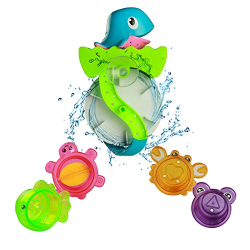 Bath Toy Play Set Waterwheel Toy Bathtub Water Game for Children Kids Bath Time Great Fun 3 Years Old by YX