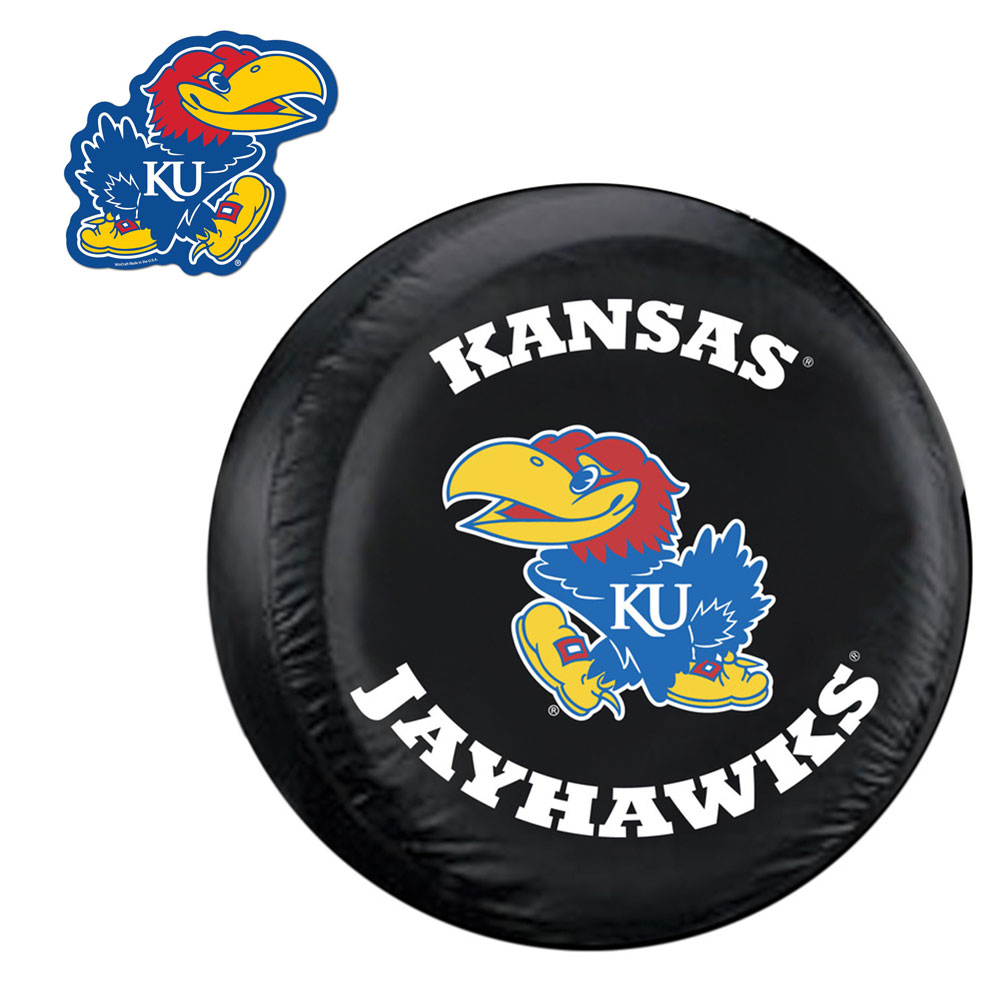 Internet Fulfillment Services IFS-COL-KSJ-TCGOGO-S Kansas Jayhawks Ncaa Spare Tire Cover And Grille Logo Set [regular]