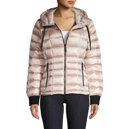 Packable Hooded Puffer Down Coat Womens Hooded Nuptse Jacket