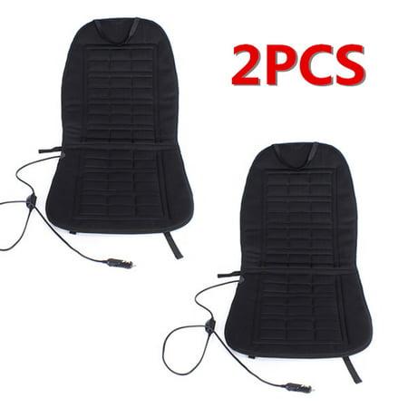 2pcs Car Heated Seat Cover Cushion Christmas Gift Hot Warm Heating 12V Pad Warmer Winter LHD MATCC US