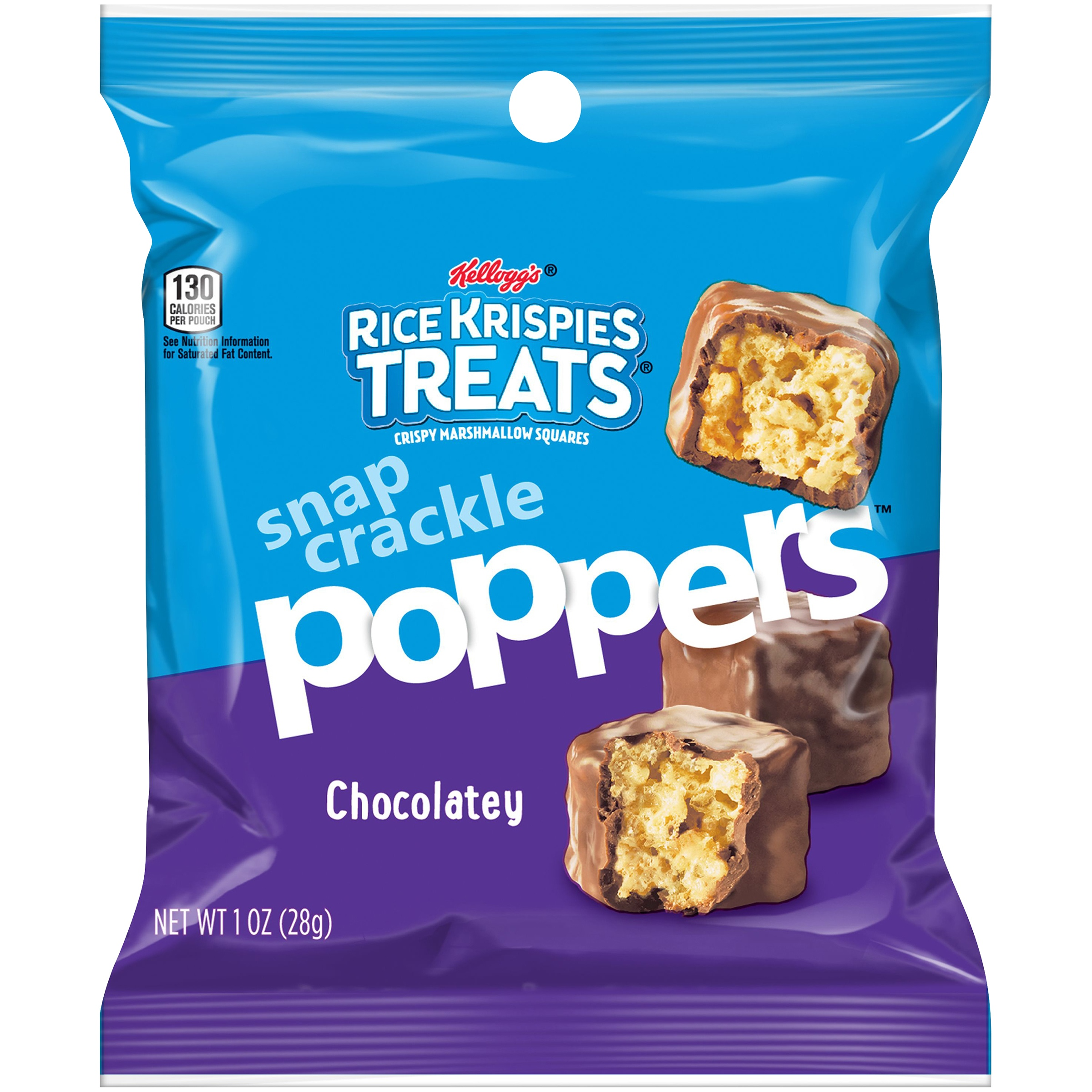 Kellogg's Rice Krispies Treats Poppers Chocolate Crispy Marshmallow Squares Snacks 1oz