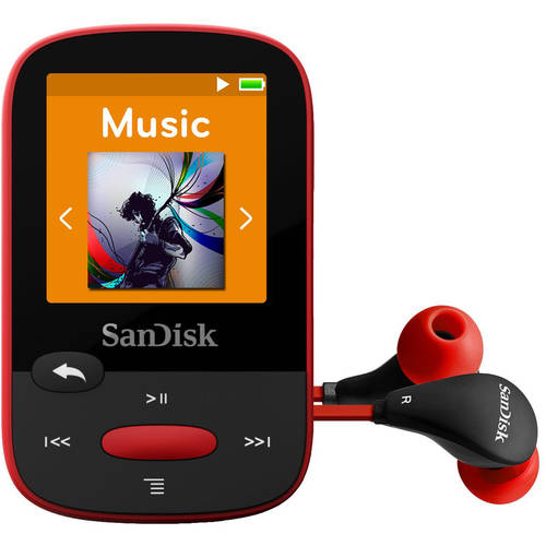 SanDisk Clip Sport 4GB MP3 Player, SDMX24-004G