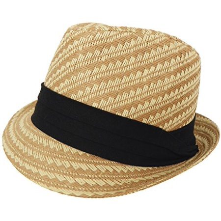 Kong Natural Straw - Woven Paper Straw Fedora (Natural - Large / X-Large)