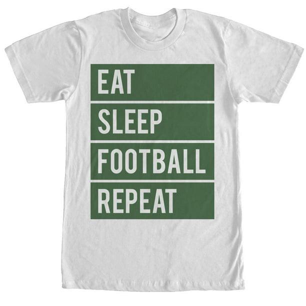 Eat Sleep Football Repeat TShirt Footballer Fan Gift All Colour Tee Kids T-Shirt